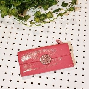 Coach Pink Leather Fold Wallet